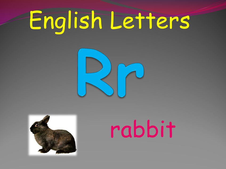 English Letters Rr rabbit