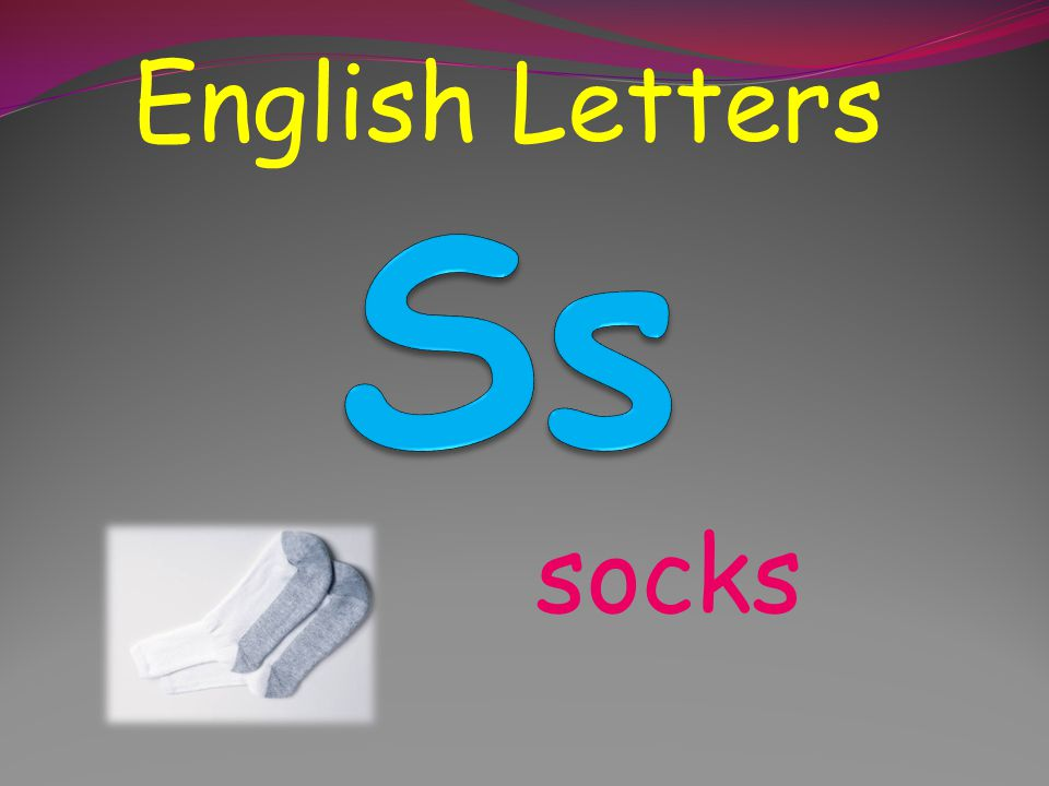 English Letters Ss socks