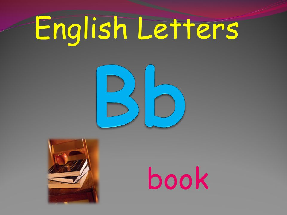 English Letters Bb book