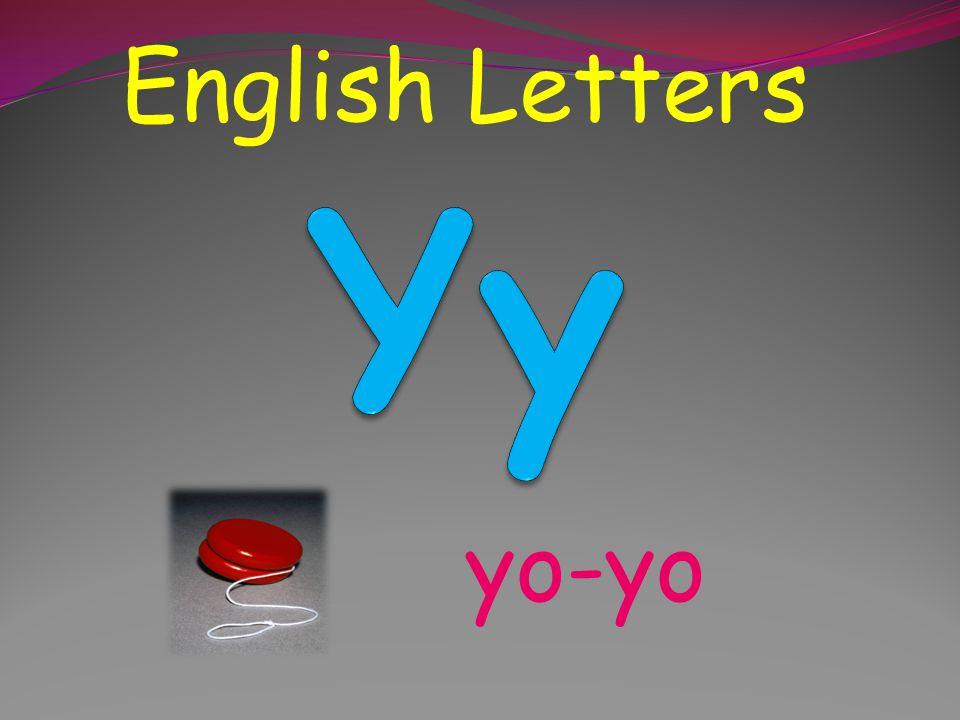 English Letters Yy yo-yo