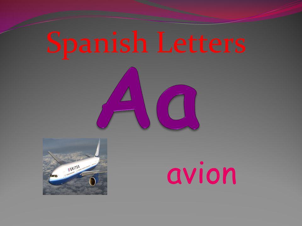 Spanish Letters Aa avion