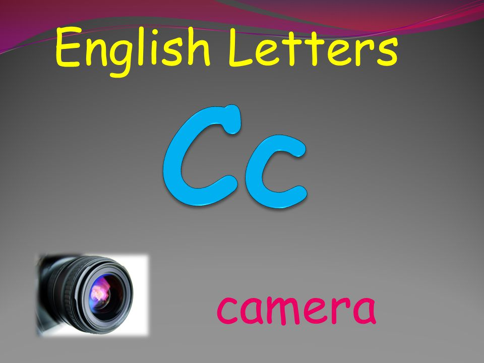 English Letters Cc camera