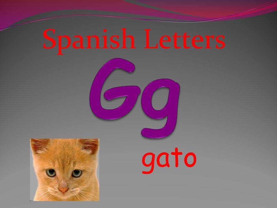 Spanish Letters Gg gato
