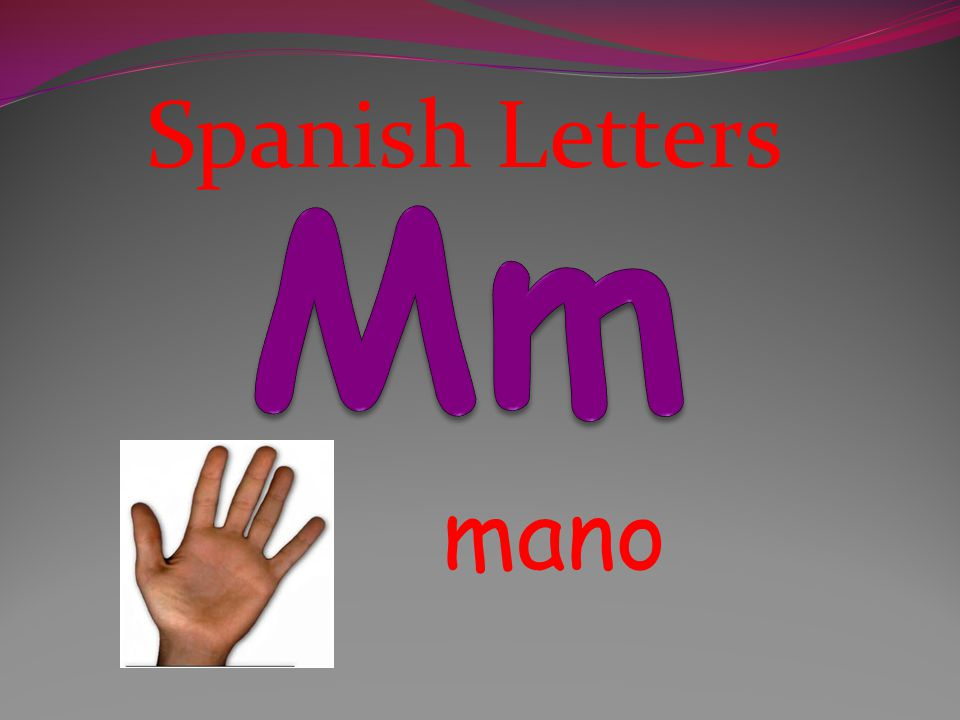 Spanish Letters Mm mano