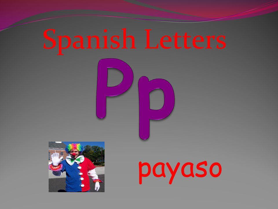 Spanish Letters Pp payaso