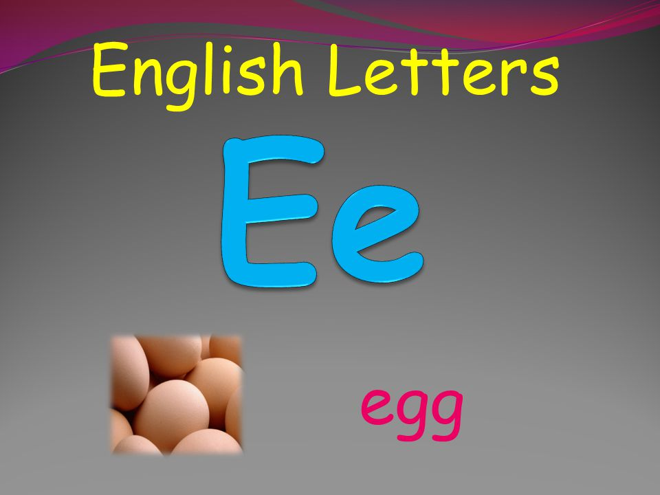 English Letters Ee egg