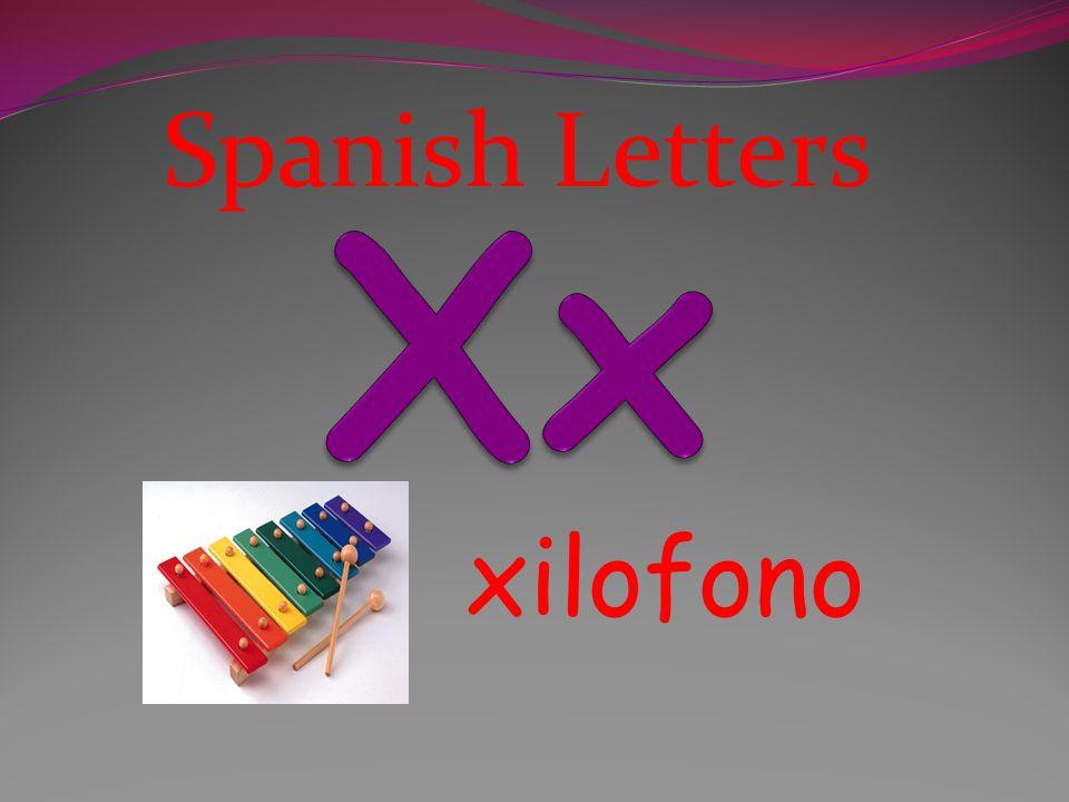 Spanish Letters Xx xilofono