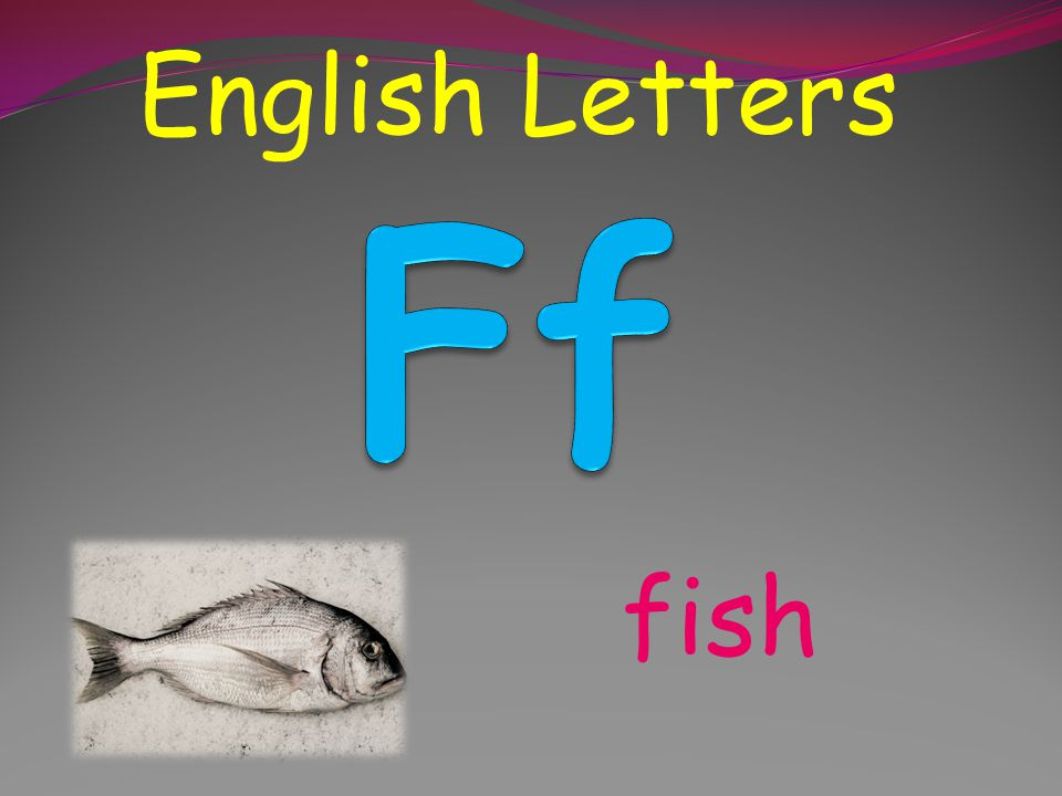 English Letters English Letters Ff fish
