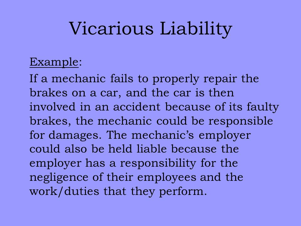 Vicarious Liability Example Image Collections Example Cover Letter