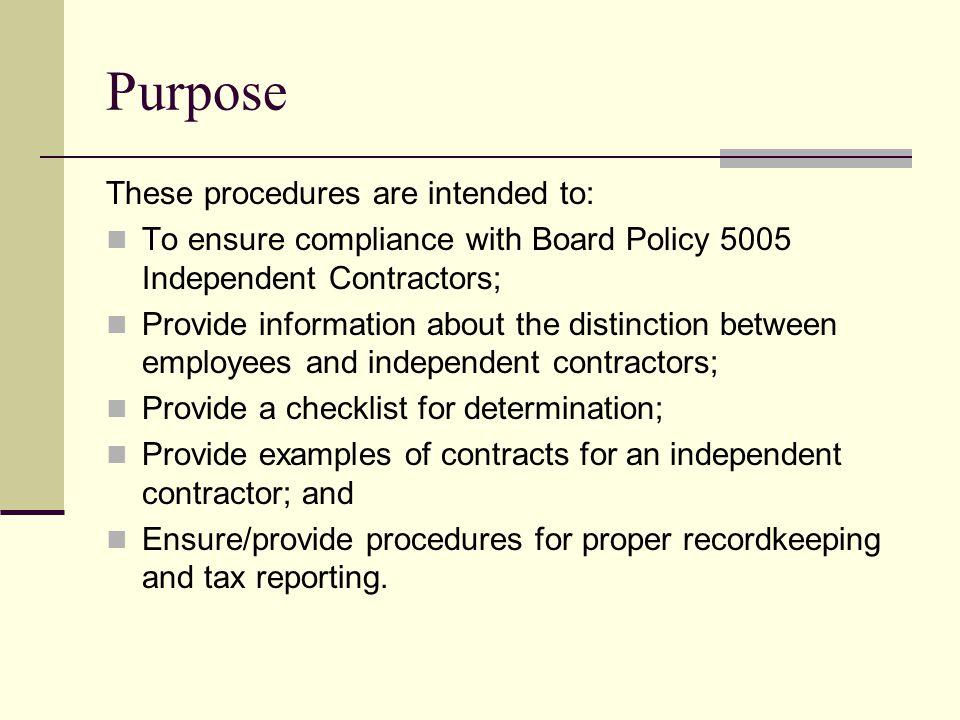 independent contractor checklist