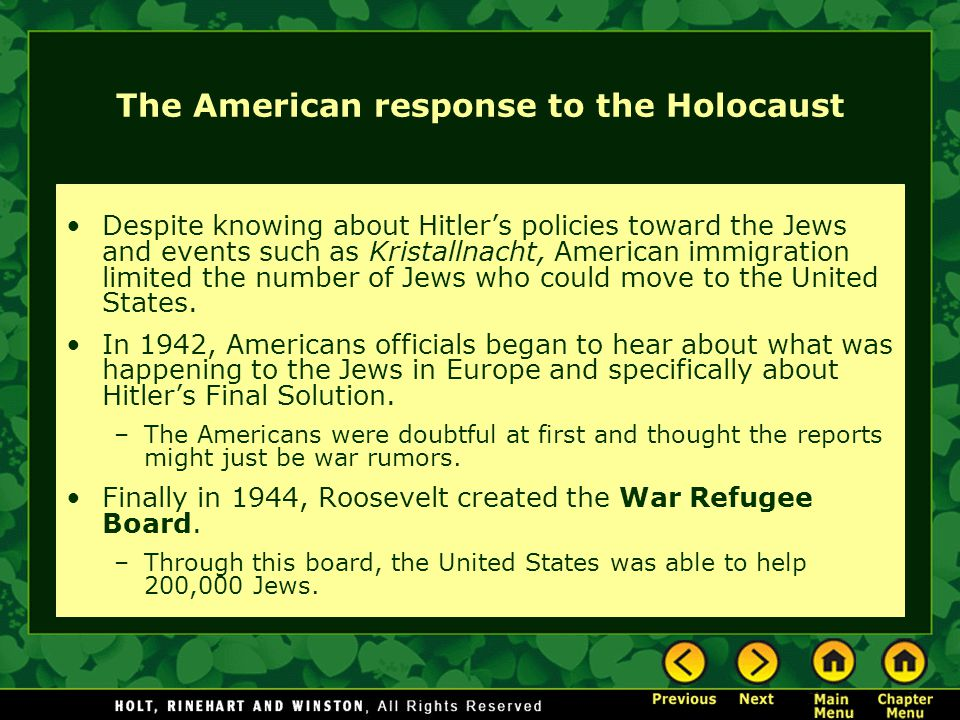 american response to the holocaust essay American response to the holocaust the systematic persecution of german jewry began with adolf hitler's rise to power in 1933 facing economic, social, and political oppression, thousands of.