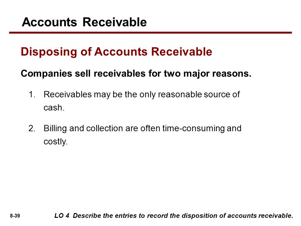 Accounting For Receivables  Ppt Video Online Download. Community College Dayton Ohio. Free Airline Ticket Credit Card. Security First Credit Union Sjvn Share Price. Travel Expense Report Excel Template. Business Promotional Items Small Quantities. Home As Collateral For Secured Loan. Windshield Repair Irvine Steve Adams Attorney. Online English Speaking Classes