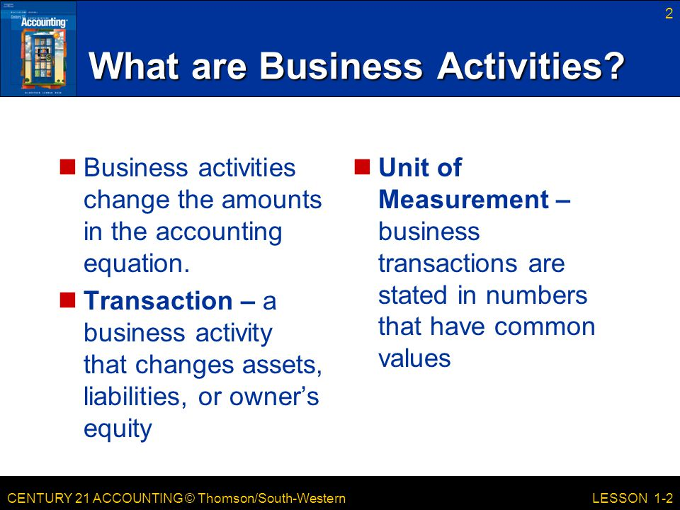 What are Business Activities
