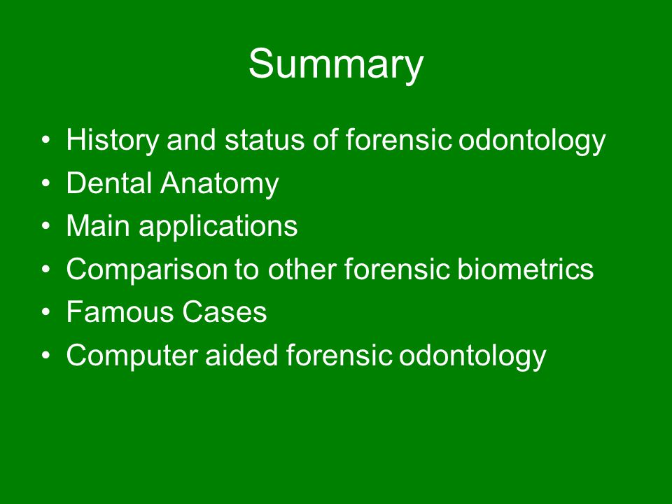 forensic dental case studies Describe one case study from the literature that illu strates how a forensic anthropologist was helpful  forensic anthropologist contribute to a forensic dental examination 15 how do forensic anthropologists (scientists) use antemortem and postmortem evidence in  study_guide_final_f10doc.
