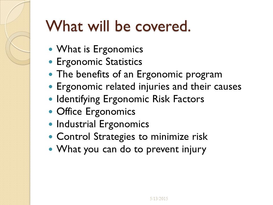 benefits of ergonomics in the workplace pdf