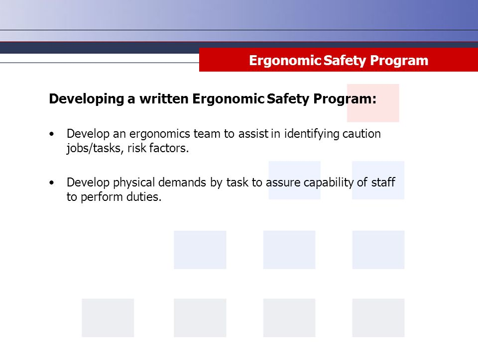 Ergonomics Assessment For The Workplace - ppt download