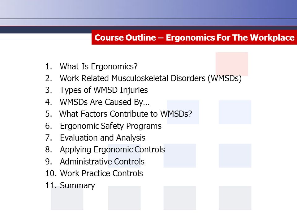 workplace ergonomics ergonomics assessment ergonomics training essay Ergonomics assessment research papers include an example of a workplace to be included in an ergonomics assessment.
