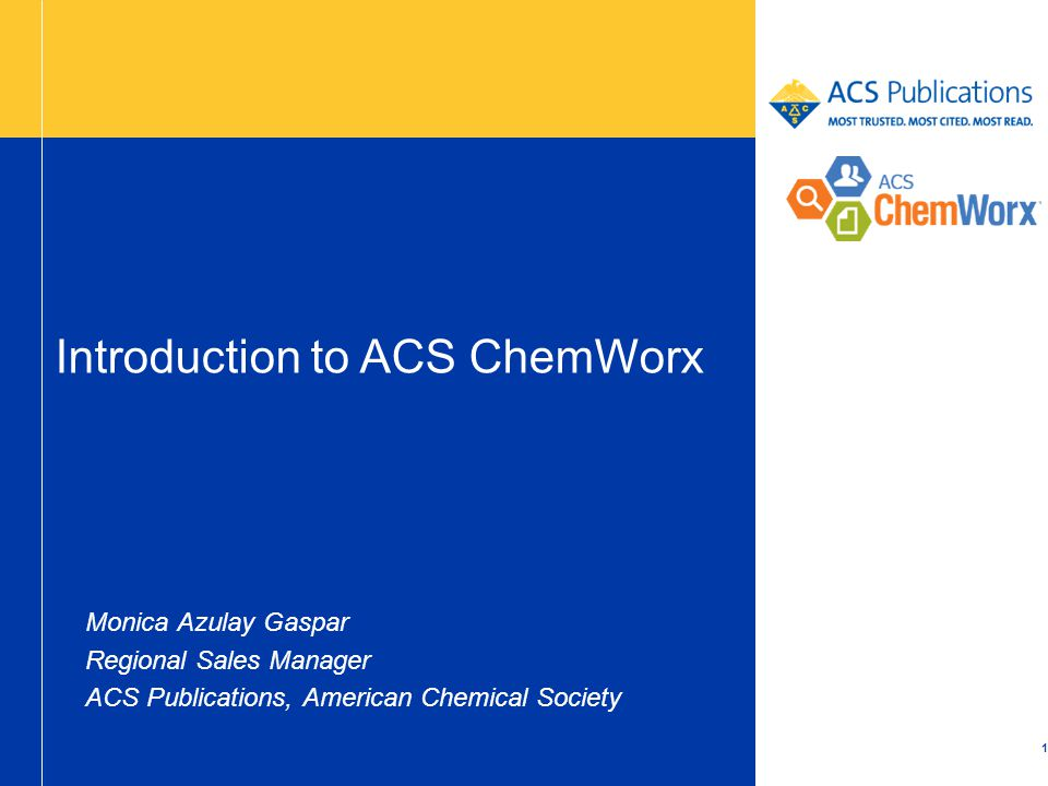 Introduction to ACS ChemWorx - ppt download