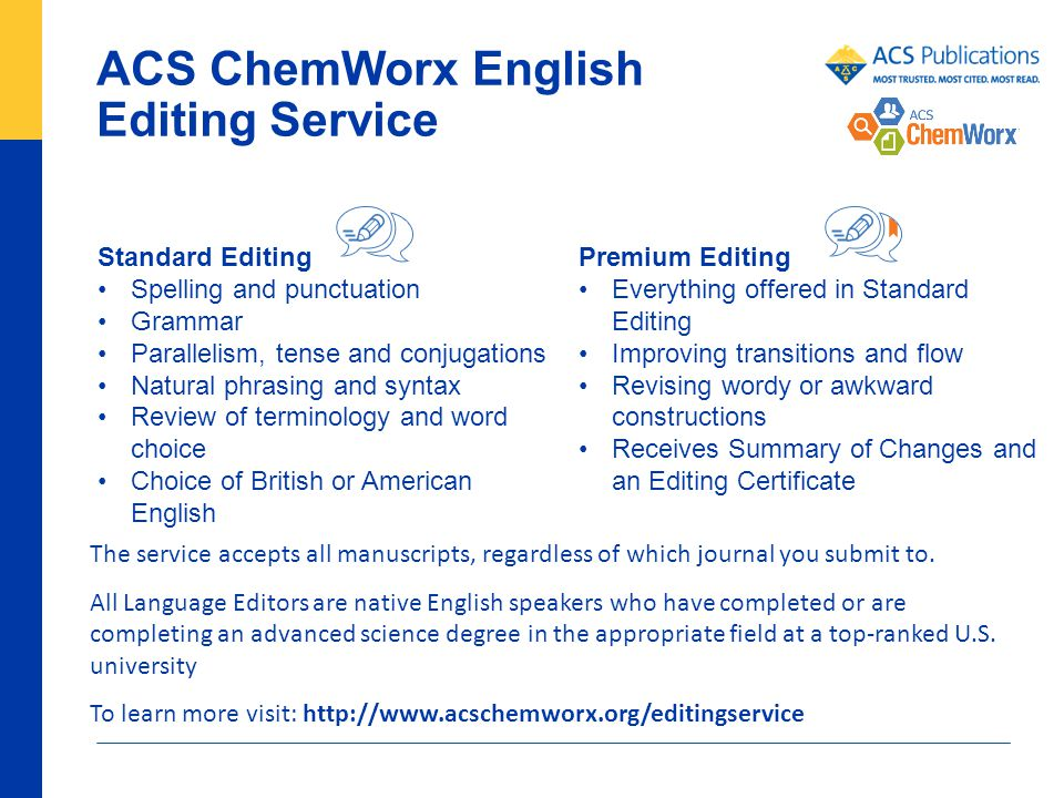English editing services