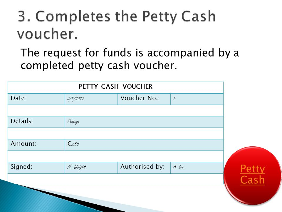 Petty Cash. - Ppt Video Online Download