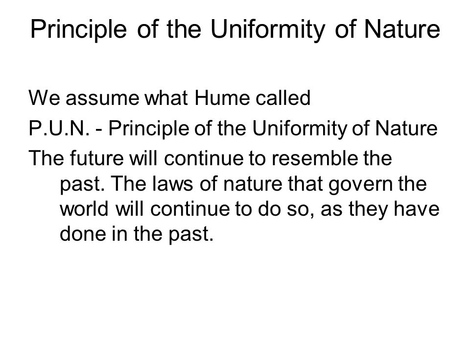Principle of the Uniformity of Nature