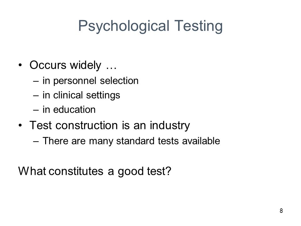 selection test psychological test Basic information: this is a selection test to assist in the decision to choose  candidates for child protection workers your score on this test wil.