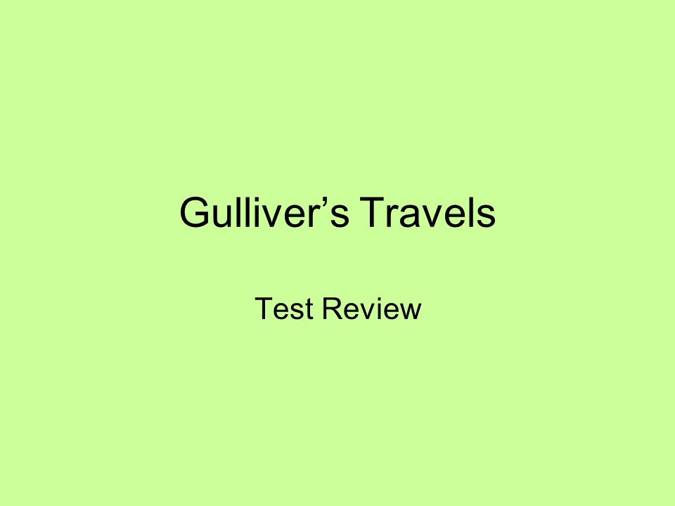 gullivers travels major themes handout