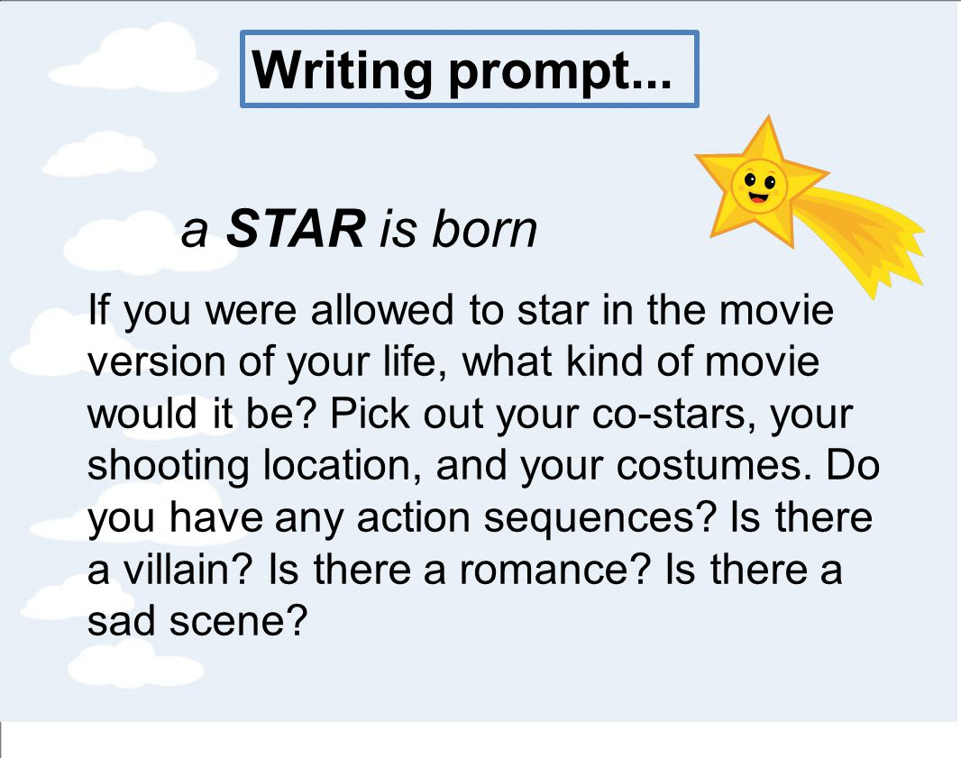 Writing action sequences in novel stars