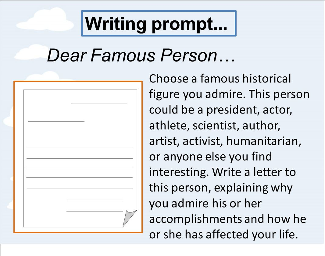 essay about an important character you admire Write an essay about someone who has had a  you could similarly write about a character trait that you admire  write an essay about an important event in.