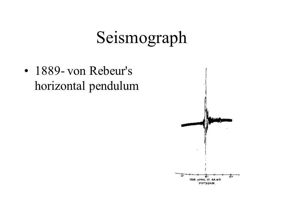 Seismograph 1889- von Rebeur s horizontal pendulum