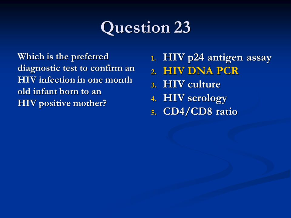 Infectious disease board review ppt download - Test hiv p24 periodo finestra ...