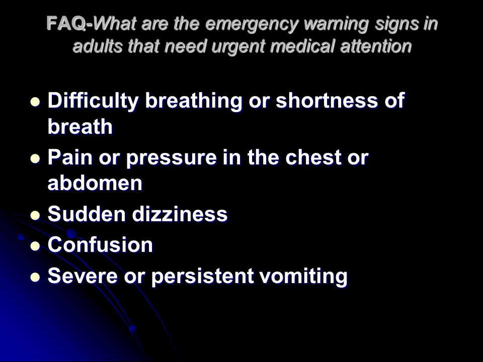 Difficulty breathing or shortness of breath