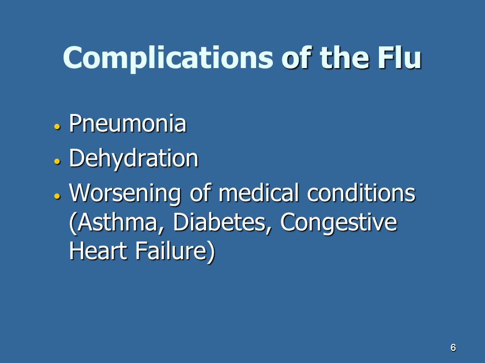 Complications of the Flu