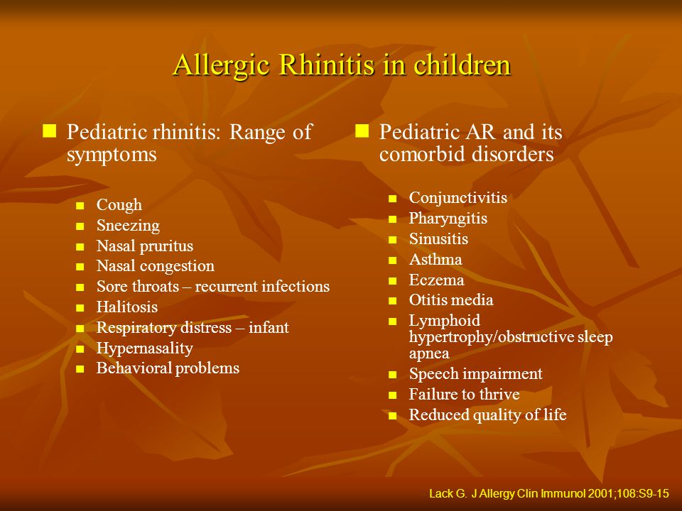 Allergic Rhinitis And Co Morbidities In Children Ppt
