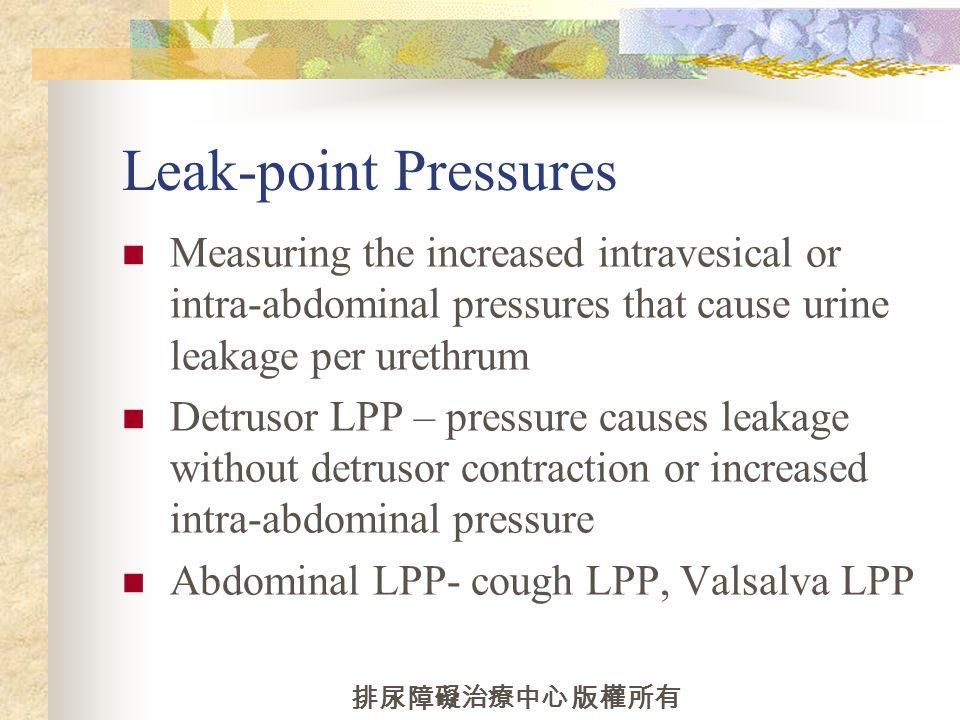 Voiding pressure flow study