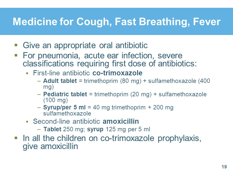 Medicine For Cough Fast Breathing Fever Cdi Module Community Management Of Pneumonia Ppt