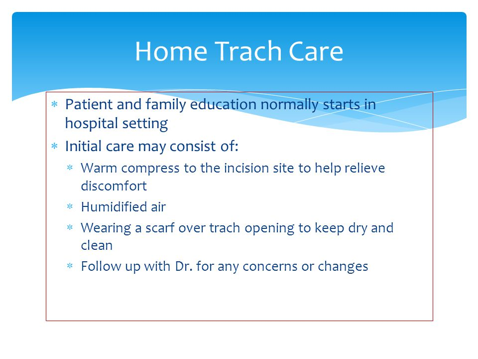 Tracheostomy Home Care Teaching