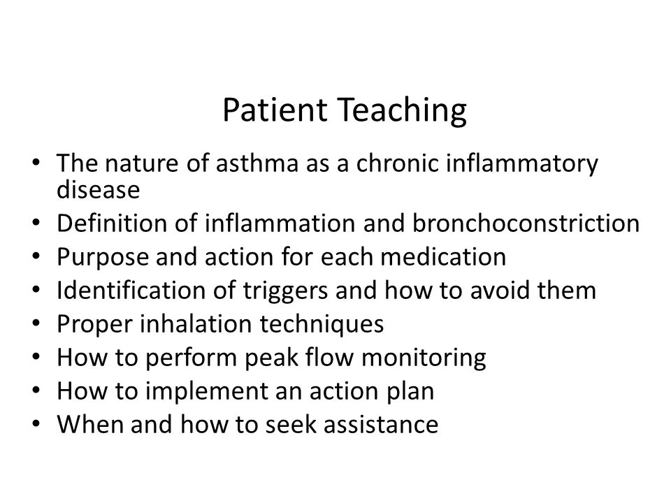 patient teaching plan Postdischarge nursing care of stroke patients the patient's needs change, so the care plan and treatment plan must be and teaching patients deep breathing.