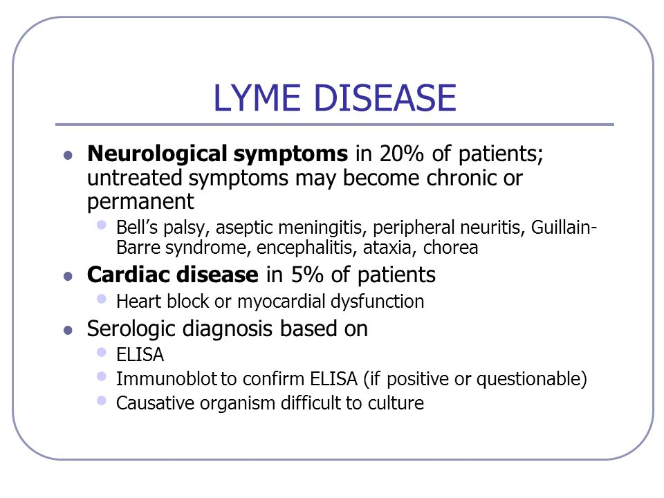 Chronic Lyme Disease Symptoms - Bing images