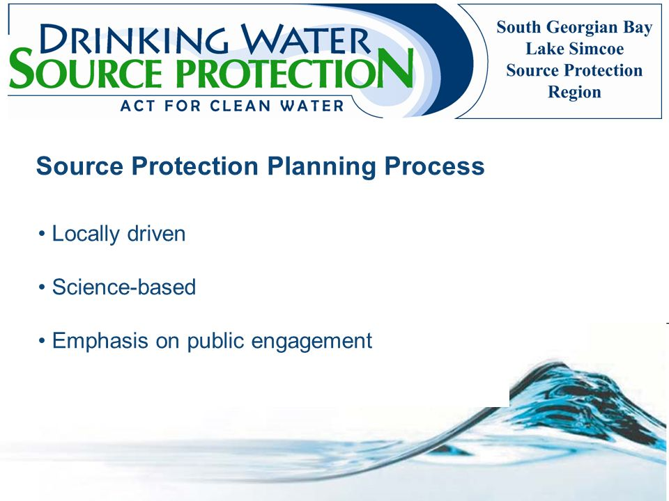 Source Protection Planning Process