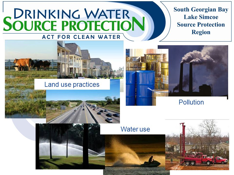 Land use practices Pollution Water use
