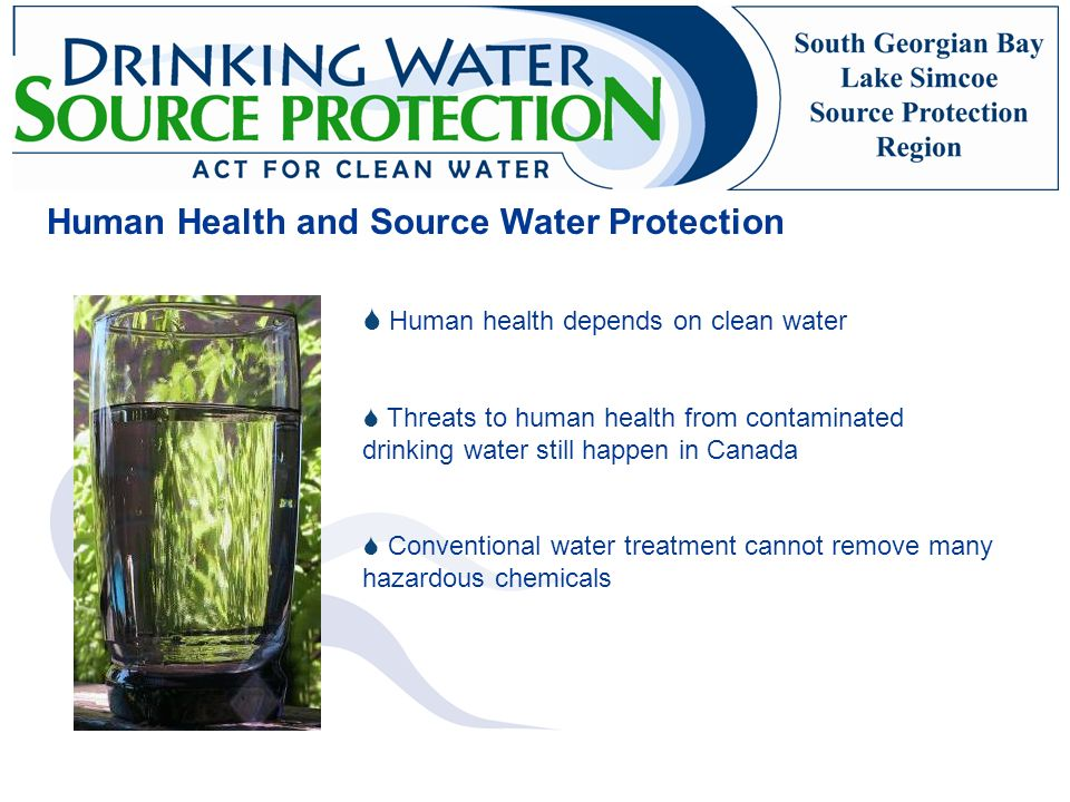 Human Health and Source Water Protection
