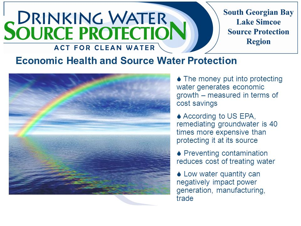 Economic Health and Source Water Protection