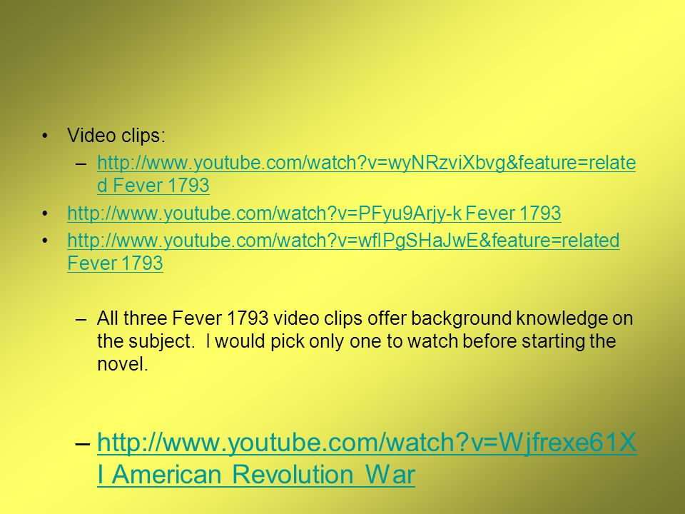 fever 1793 by laurie halse anderson ppt video online