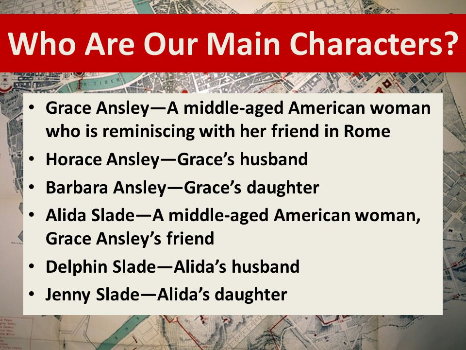 Contrast the characters of alida slade and grace ansley in roman fever