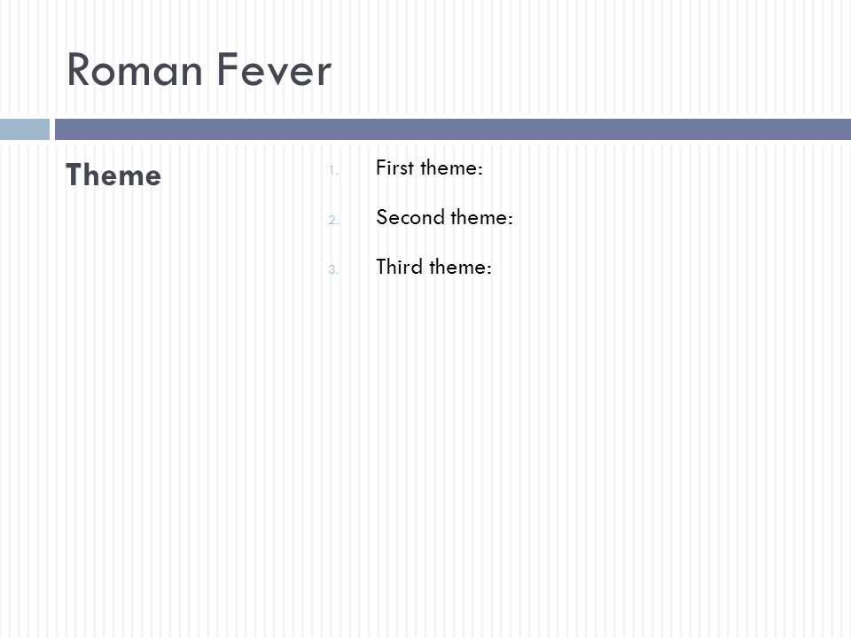 edith wharton r fever ppt video online  16 r fever theme first theme second theme third theme