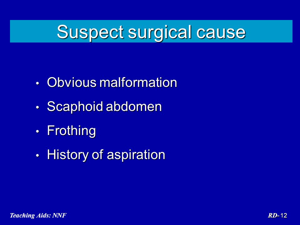 Suspect surgical cause