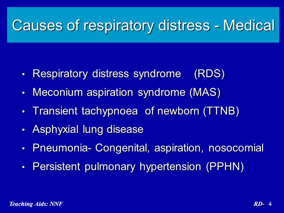 Causes of respiratory distress - Medical
