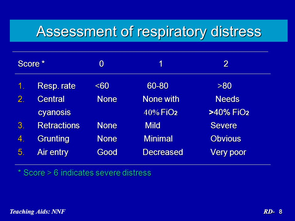 Assessment of respiratory distress