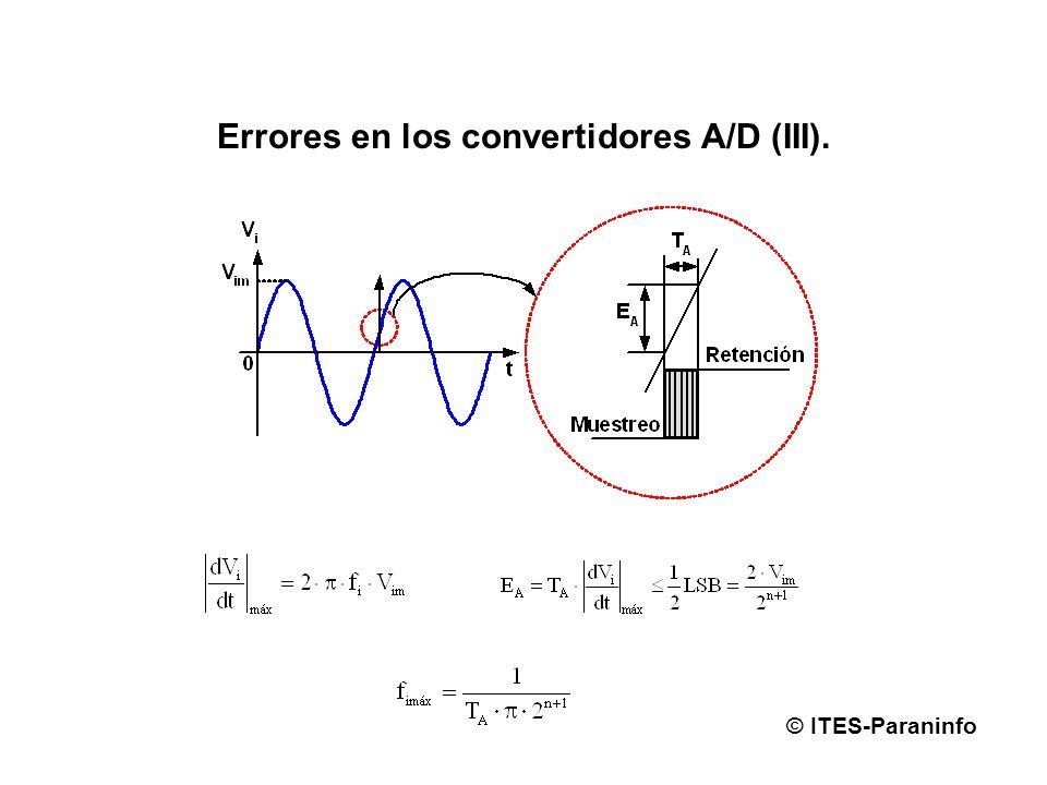 Errores en los convertidores A/D (III).